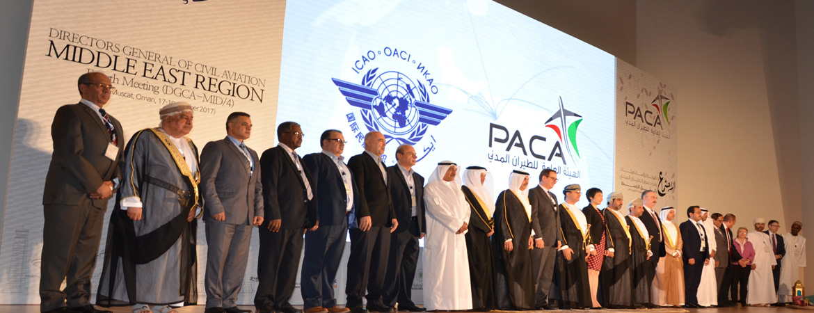 Closing the fourth meeting of Directors of General Civil Aviation in Middle East