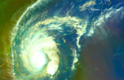 End of possibilities of direct impact tropical Cyclone (CHAPALA)