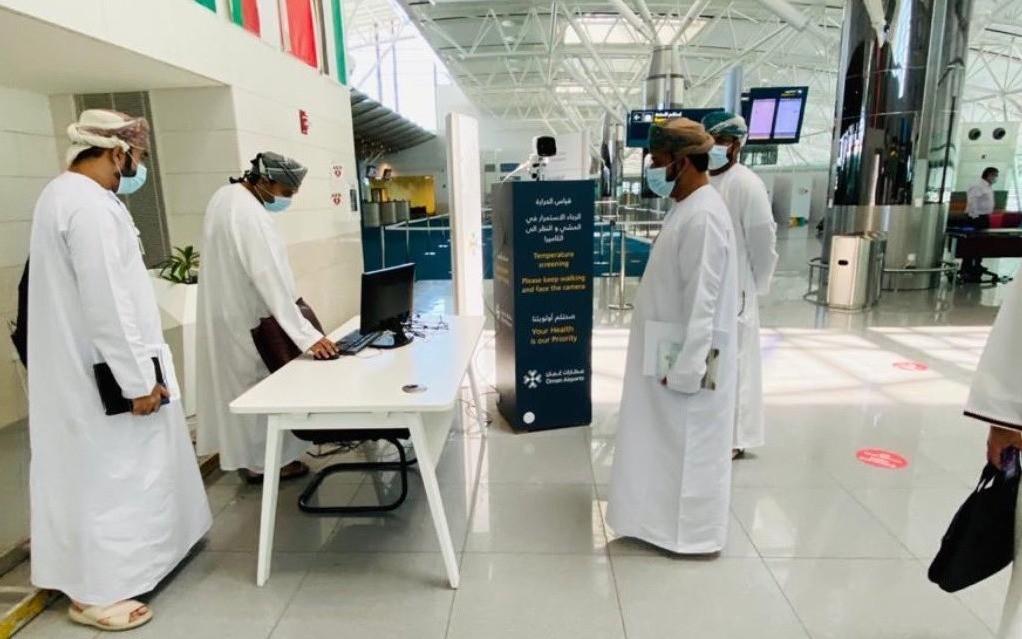 تقييم جاهزية مطار صلالة وتطبيقه لبروتوكولات الصحة والسلامة لكوفيد-١٩
